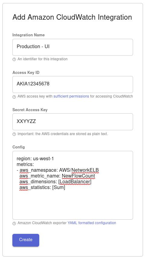 example: configure an AWS integration