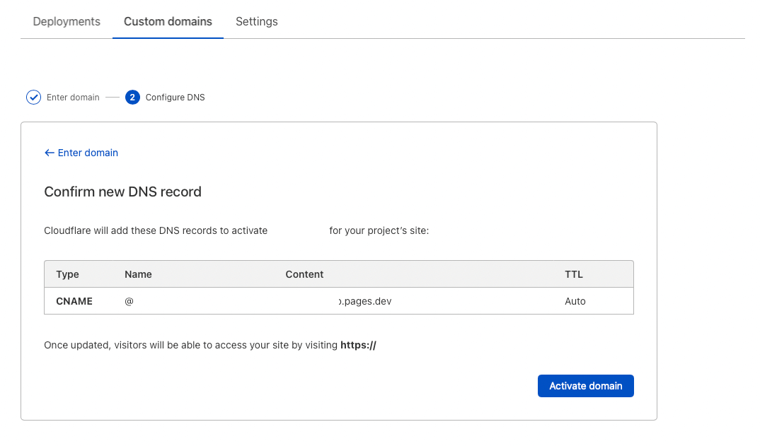 cloudflare connect custom domain